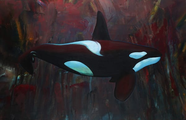 Abstract Orca 2 Art for Sale