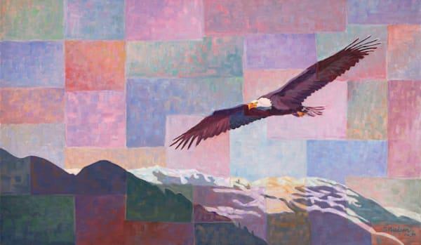 Prophetic Flight original oil by Canadian artist Sherry Nielsen