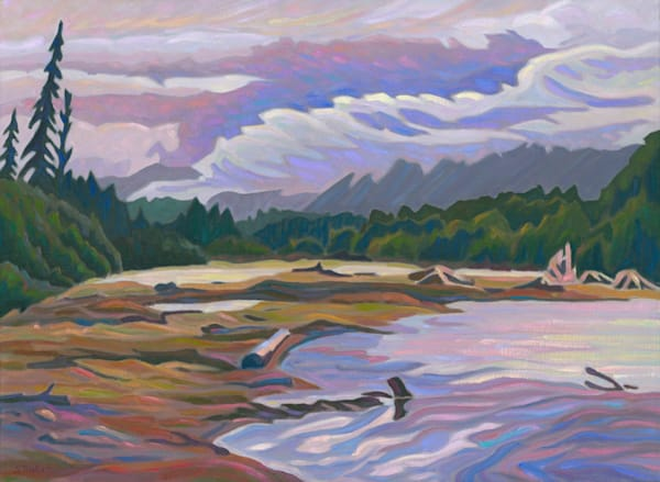 Kitimat River original oil painting by Canadian artist Sherry Nielsen