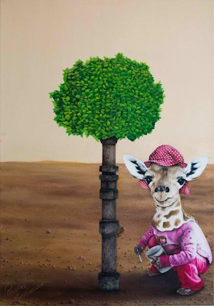 Shop Raquel Fornasaro Giraffe Contemporary Original Fine Art Oil Portrait on Canvas