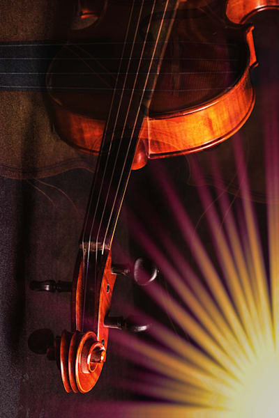 Violin Neck Music Art 1010