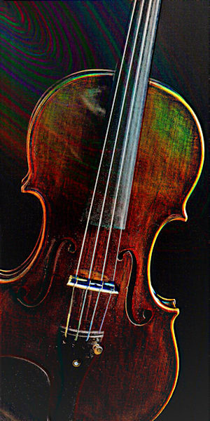 Embossed Antique Violin 4010