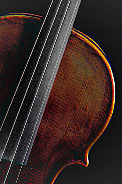 Violin Embossed Wall Art 4006