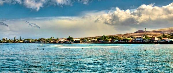 Lahaina Hawaii from the Coastline, Maui