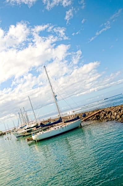 Sailboat in Port in Lanai