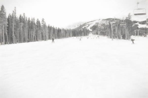 Breckenridge Landscape Ski Runs on the Mountain charcoal