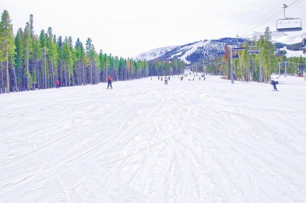 Breckenridge Landscape Ski Runs on the Mountain color