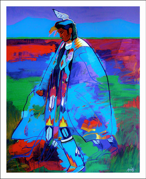 Dancer at Taos Pueblo | John Nieto Art Limited Edition Serigraph