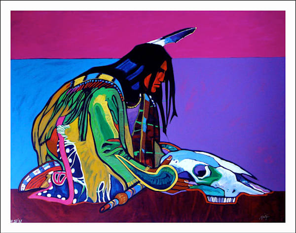 Prayer for the Return of the Buffalo | John Nieto Art Limited Edition Serigraph