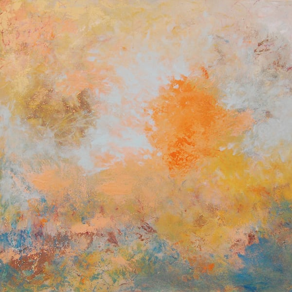 """Abstract painting """"Marigolds"""" by Andrea Cermanski."""