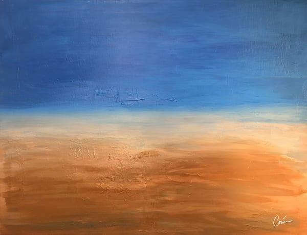 Sandy Beach Painting by Artist Corina Bakke. CorinaGallery.com