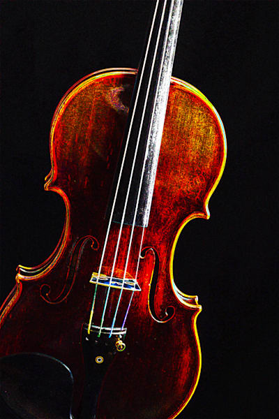 Violin Dark Drawing Musical Art  5009