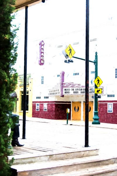 Photographs of Grapevine Texas Historic Main Street Palace Theater, Vertical