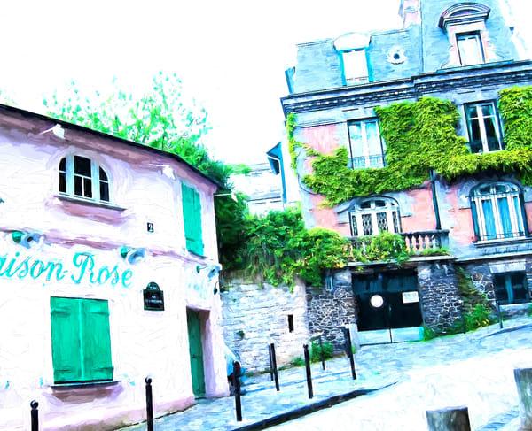 La Maison Rose with Green Shutters, Montmartre, Paris