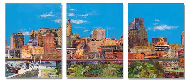 St. Paul Skyline (Triptych) Art | Made by Kristi