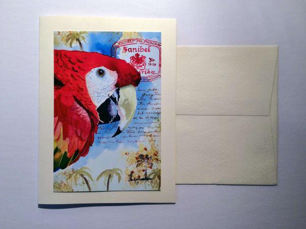 Sanibel Parrot Card 3 for $6.00