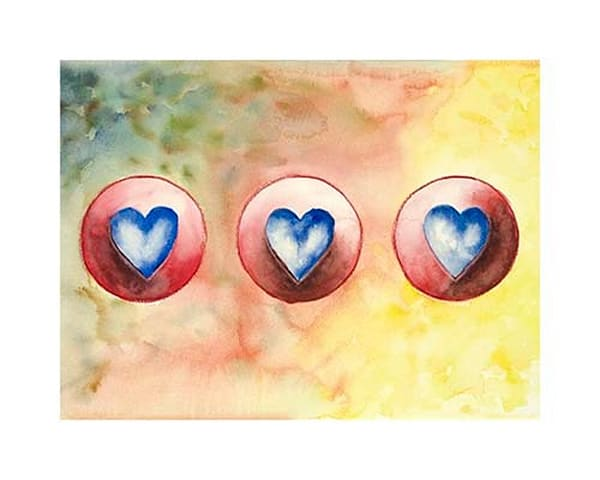 """16x20 Hearts #9 """"In Time"""" Paper 