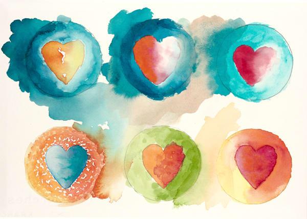 10x14 Hearts # 2 Canvas | HFA print gallery