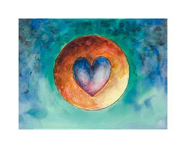 "10x14 Hearts #10 ""Sunset Heart"" Canvas | HFA print gallery"