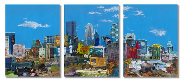 Minneapolis Skyline (Triptych) Art | Made by Kristi