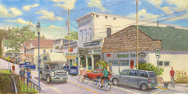 Fish Creek downtown fine art print by Rick Brawner.