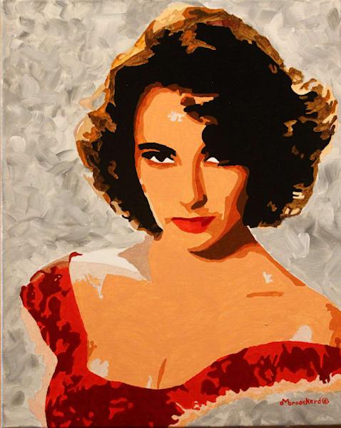 Liz Acrylic For Sale As Fine Art by Dennis Broockerd.