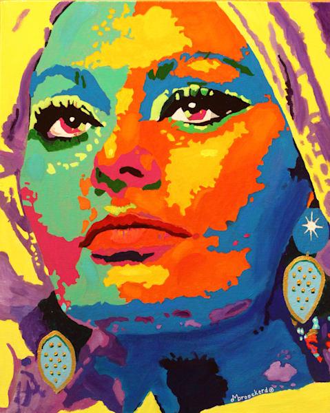 Sophia Acrylic For Sale As Fine Art by Dennis Broockerd.