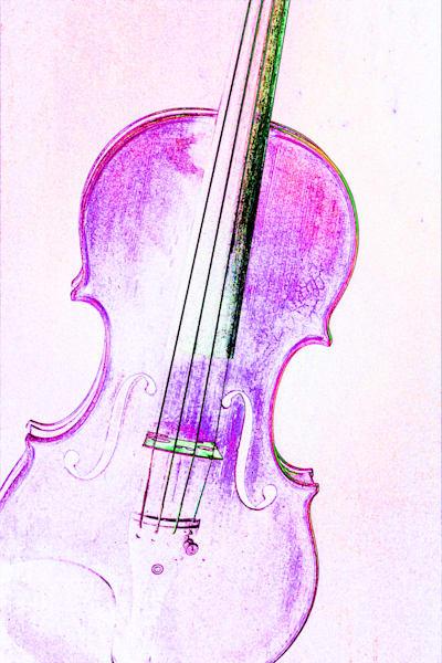 Musician Art Violin Watercolor 6016