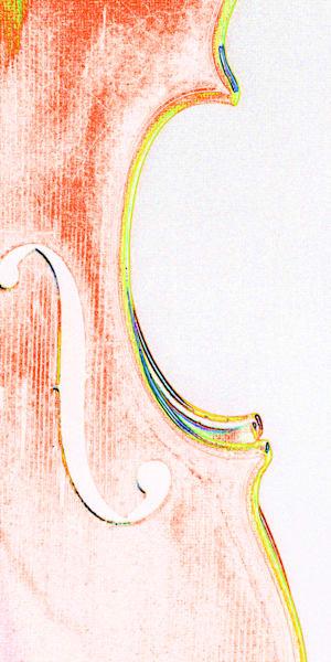 Musical Art Violin Watercolor 6008