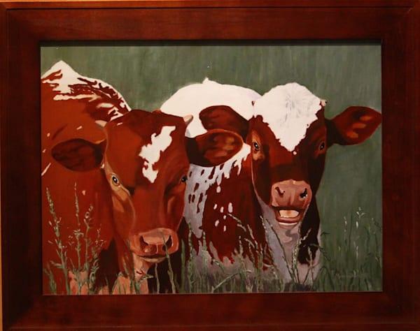 Half Sisters  Acrylic For Sale As Fine Art by Dennis Broockerd.