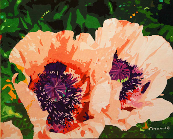 Santa Fe Poppies Acrylic For Sale As Fine Art by Dennis Broockerd.