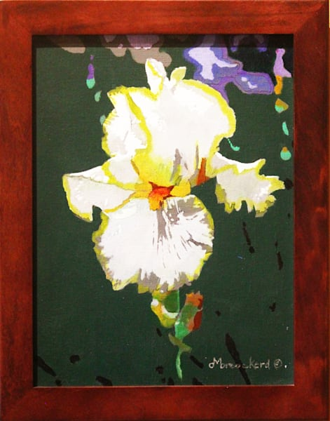 Iris Acrylic For Sale As Fine Art by Dennis Broockerd.