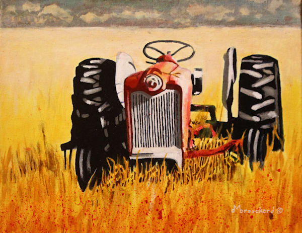 Out To Pasture Acrylic For Sale As Fine Art by Dennis Broockerd