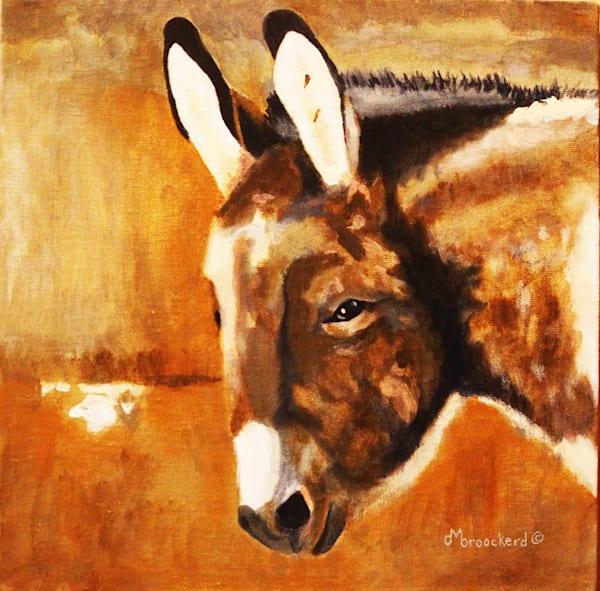 Burro  Acrylic For Sale As Fine Art by Dennis Broockerd.