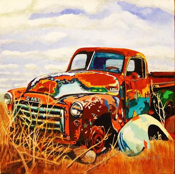 GMC Fixer-Upper Acrylic For Sale As Fine Art by Dennis Broockerd.