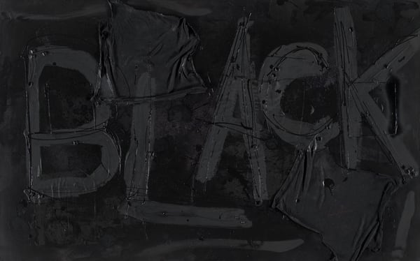 Mixed Media Painting- Art - Crayola Feelings Black- for Sale