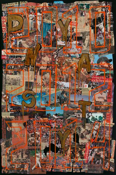 San Francisco Giants Dynasty- Mixed Media Art- Baseball Art- ATR Fine Art painting