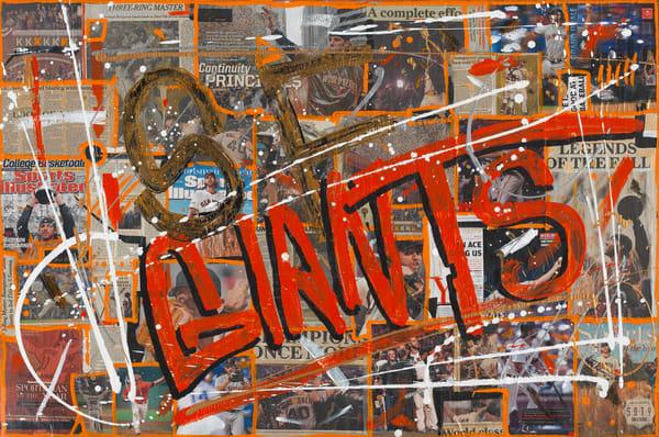 San Francisco Giants- Mixed Media Art- Baseball Art- Madison Bumgarner- ATR Fine Art painting