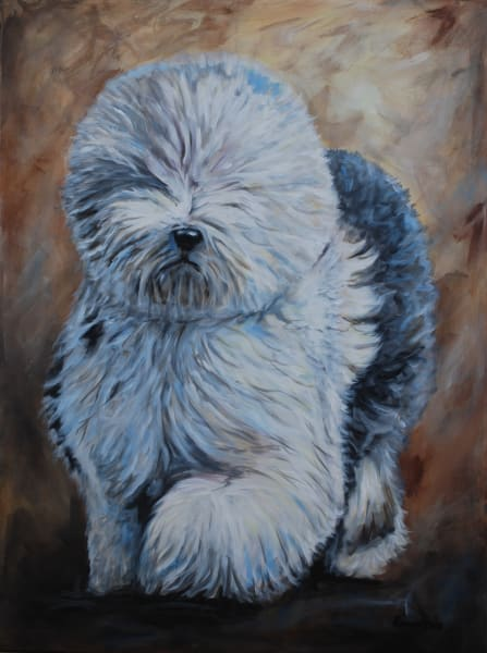 Pet Portrait by Amy Keller-Rempp - dog - sheep dog