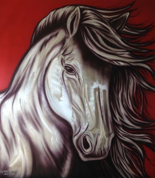 Amy Keller-Rempp Art - metal grinding - horse
