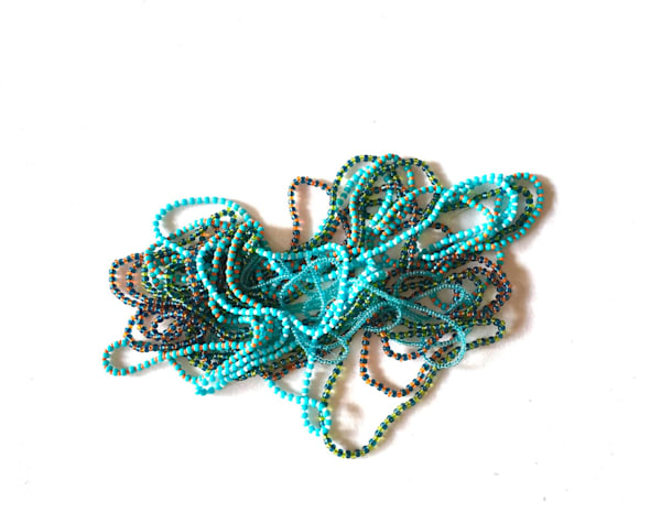 Blue Custom Love Beads