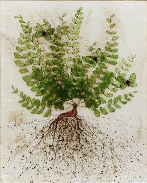 Uprooted 1 Art | Karen Sikie Paper Mosaic Studio