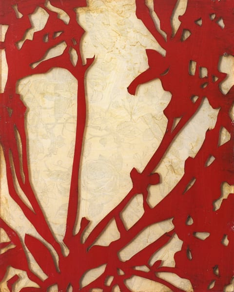 Red Floral Silhouette 1