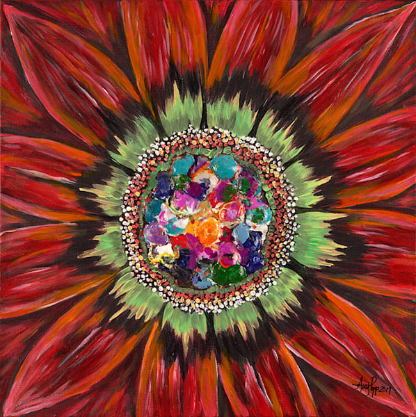 Red Daisy fine art print by Amy Popp.