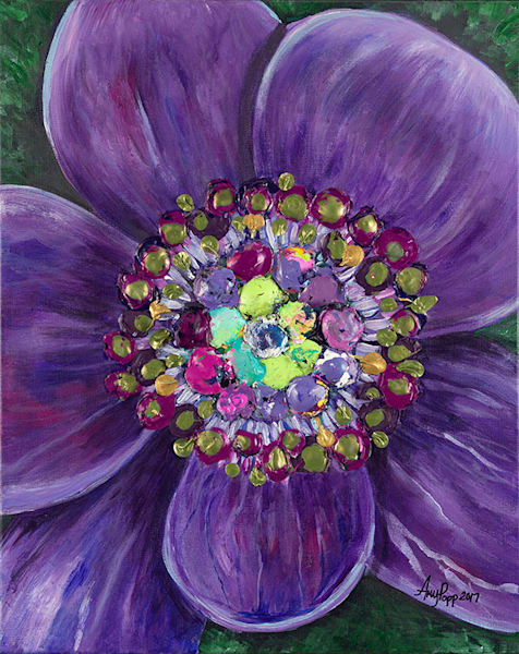 Purple Anemone fine art print by Amy Popp.