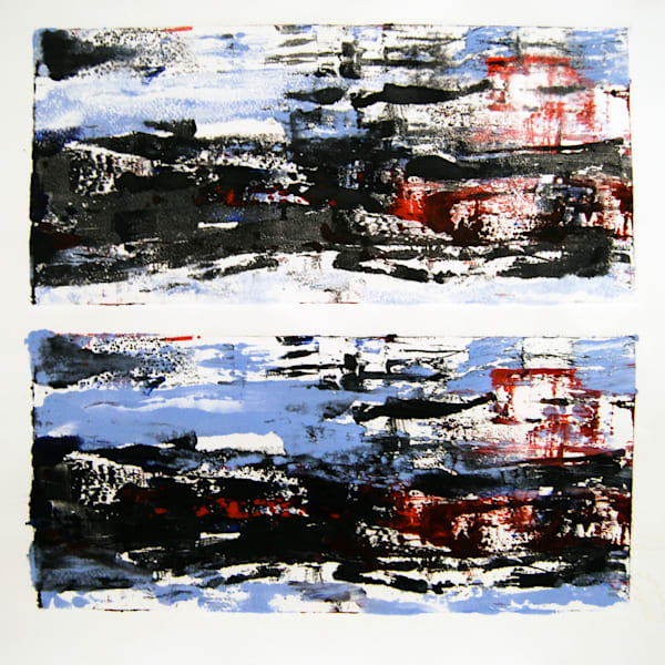 Monotypes, One-of-a-Kind Prints by Caroline Wright. Painting with a printing press.
