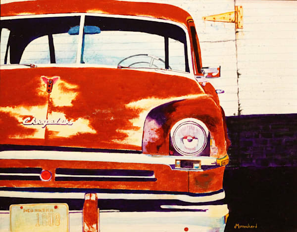 Chrysler Fixer-upper Acrylic For Sale As Fine Art by Dennis Broockerd.