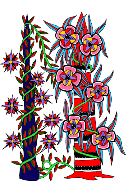 Flower Vine Art for sale