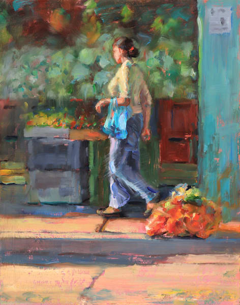Mercado - Oil Painting