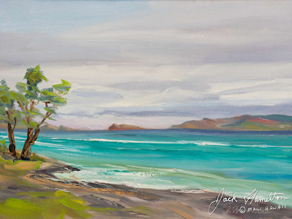 "#1958 ""Peaceful Sea at Ukumehame"""